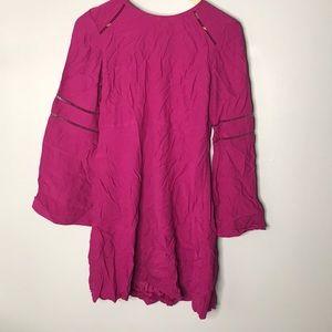 LOFT Magenta Long Sleeve Dress NWT